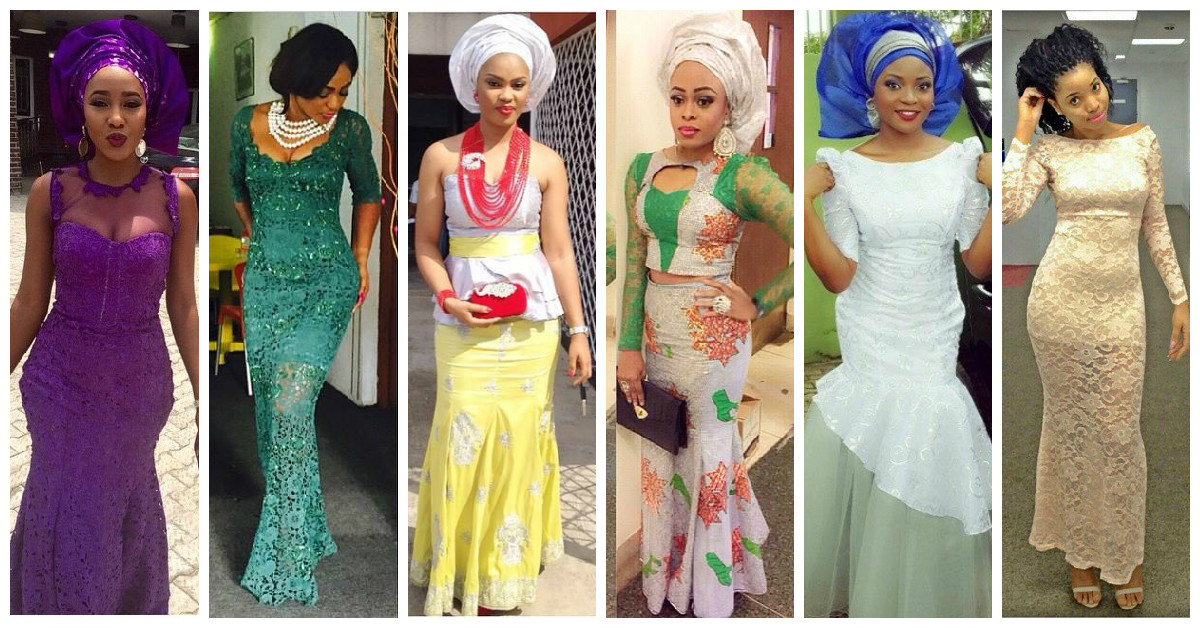Colorful Aso Ebi In Lace Lookbook #3.