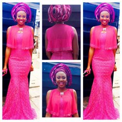 Colorful Asoebi In Lace french lace 2015 amillionstyles