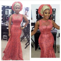 Colorful Asoebi In Lace french lace amillionstyles