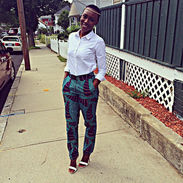 Ankara Styles In Pant Combination @RandiWrap - AmillionStyles