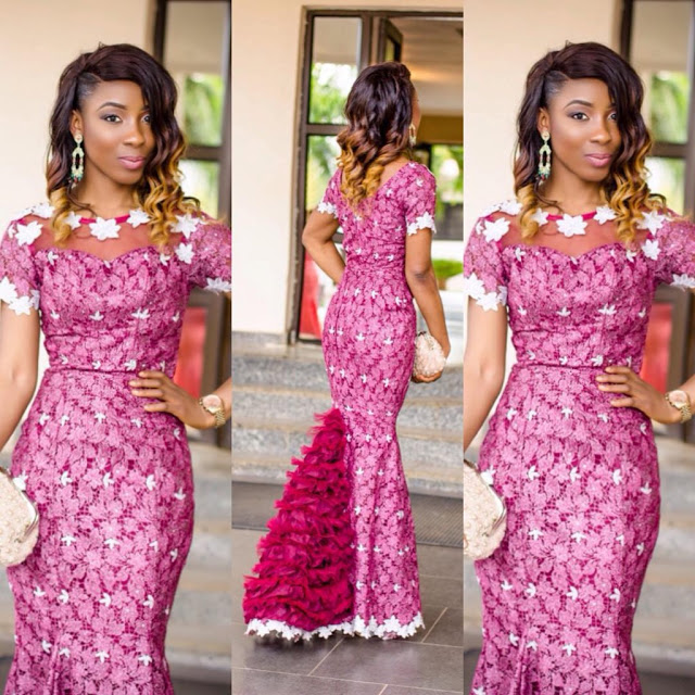 Amazing wedding guest long gowns lace ankara inspired for African dress styles for weddings