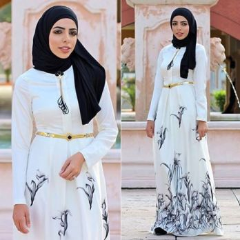 Beautiful Islamic Dresses With Hijab3