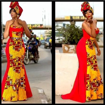 ankara gown styles