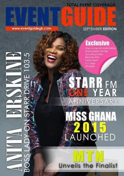 ghana anita erskine cover girl for eventguide - amillionstyles