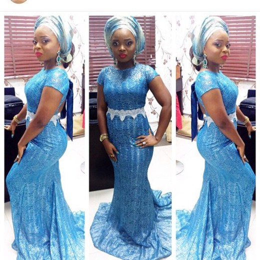 Latest Aso Ebi Styles Lace Inspired lookbook 2 amillionstyles