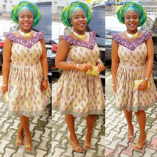 ankara short gown styles @mz_tessy amillionstyles.com 2