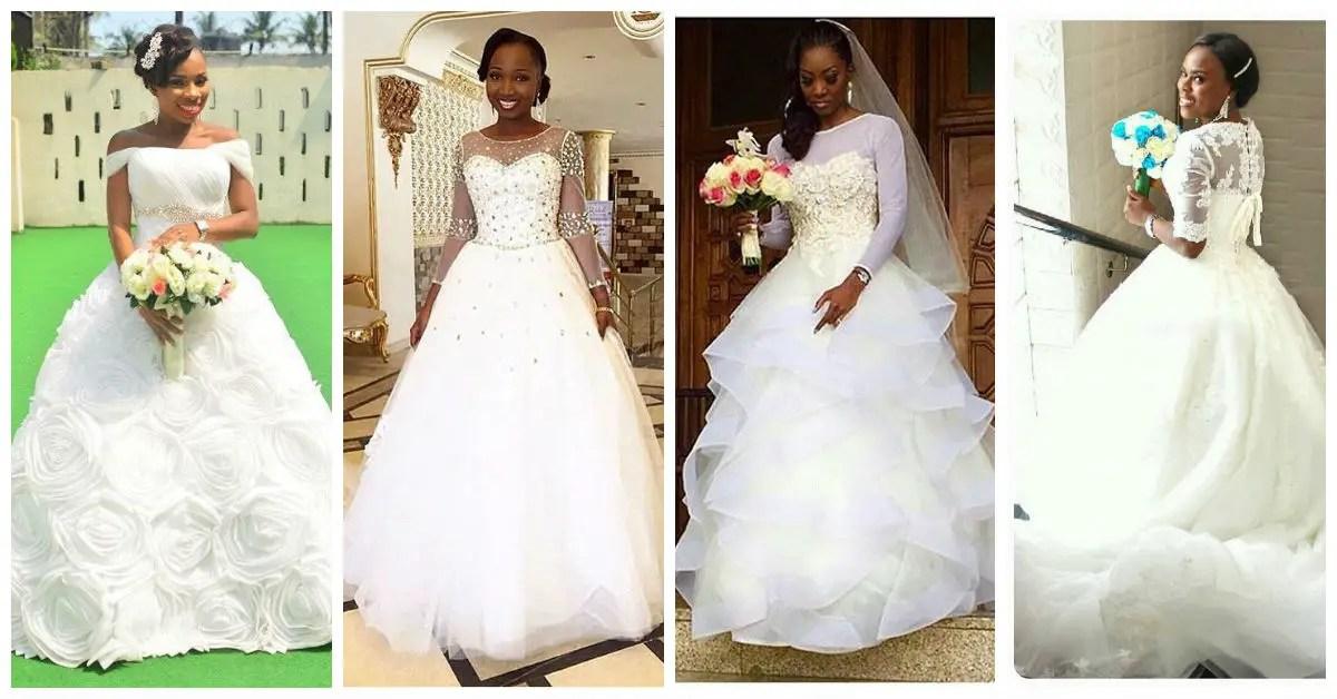 Nigerian Trending And Glamorous Wedding Dresses