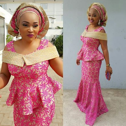 Fashion Aso ebi Styles from Mercy Aigbe Gentry amillionstyles.com @mercyaigbegentry