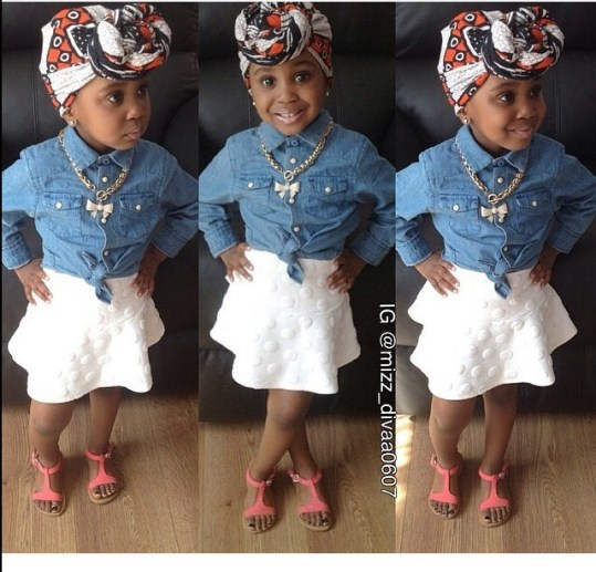 10 Adorable Kids In Their Awesome Outfit amillionstyles.com @mizz_divaa0607