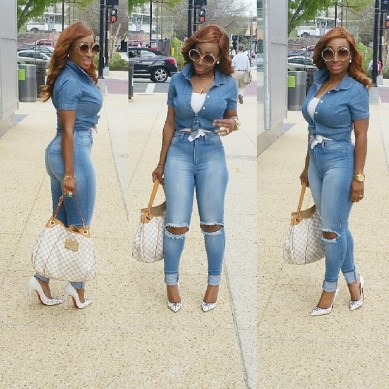 8 Eye Catching Denim Styles Amillionstyles.com @chicamastyle
