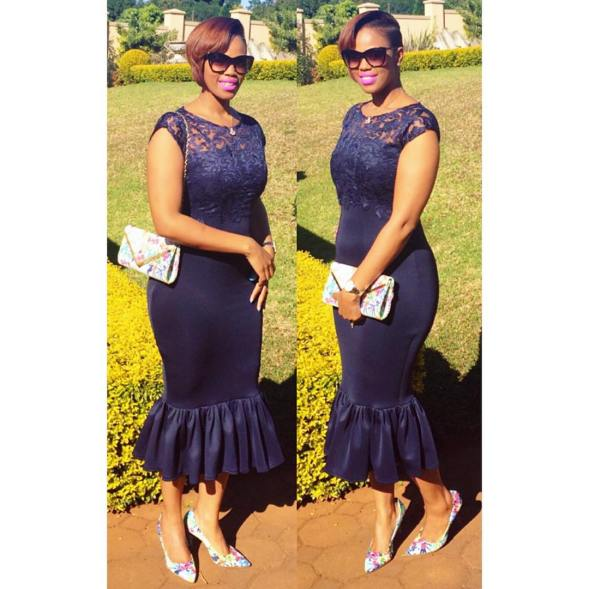 10 Stylish Plain Or Patterned Dresses for Church amillionstyles.com  @ladyzeei