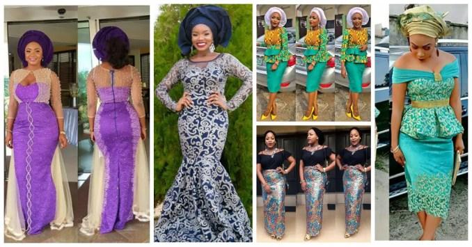 Latest Lace And Ankara Aso Ebi Styles amillionstyles.com