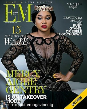 Mercy Aigbe covers @mercyaigbegentry