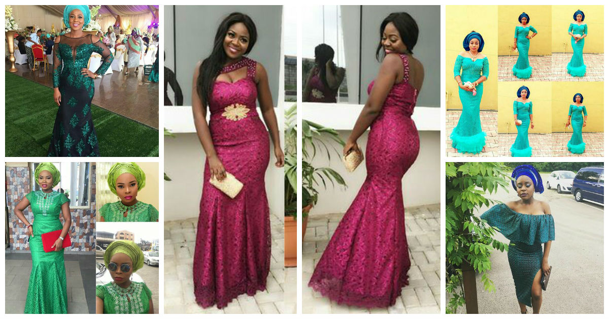 Classy Aso Ebi Styles In Lace Worn Over The Weekend Amillionstyles.com Cover