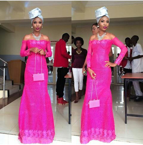 Classy Aso Ebi Styles In Lace Worn Over The Weekend @kehney