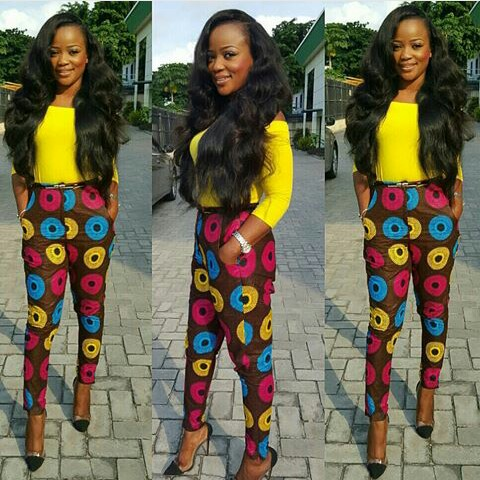 Chiffon, Jacket and Tops Slayed With Ankara Pants amillionstyles.com @iamnini1