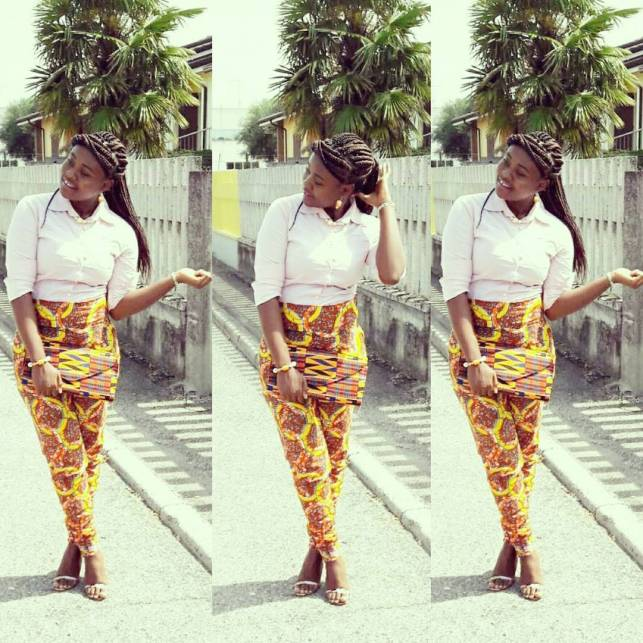 Chiffon, Jacket and Tops Slayed With Ankara Pants amillionstyles.com @juxcalme_angie_pyrri