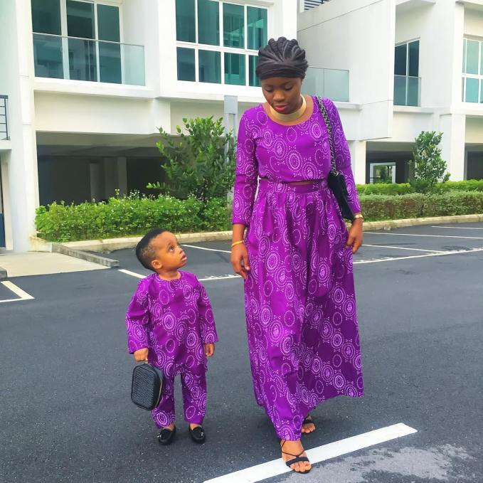 Stylish Mother And Daugther/Son Outfits amillionstyles.com @pweetyfowowe