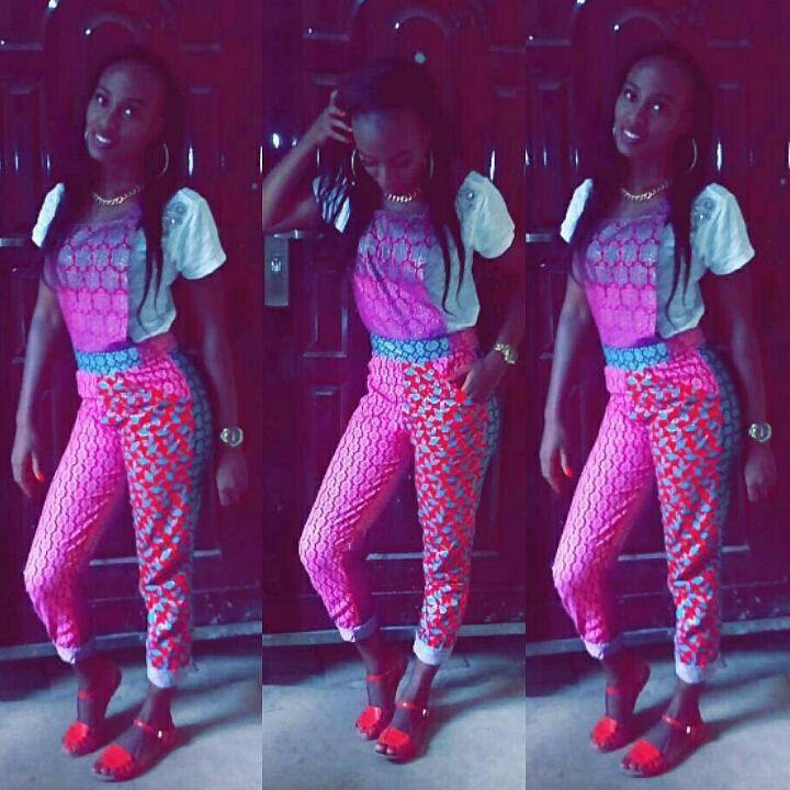 Colorful Ankara In Dungarees Style amillionstyles @sisi_ray