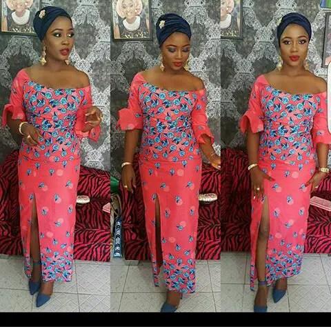 Latest Lace And Ankara Aso Ebi Styles amillionstyles @reasignature