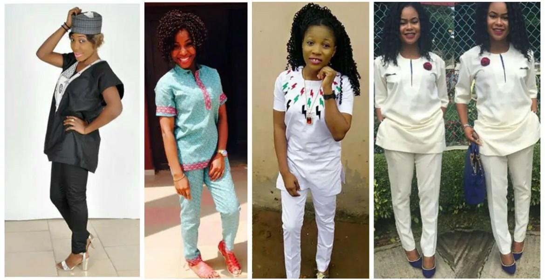 Amazing Agbada and Atiku style for ladies amillionstyles