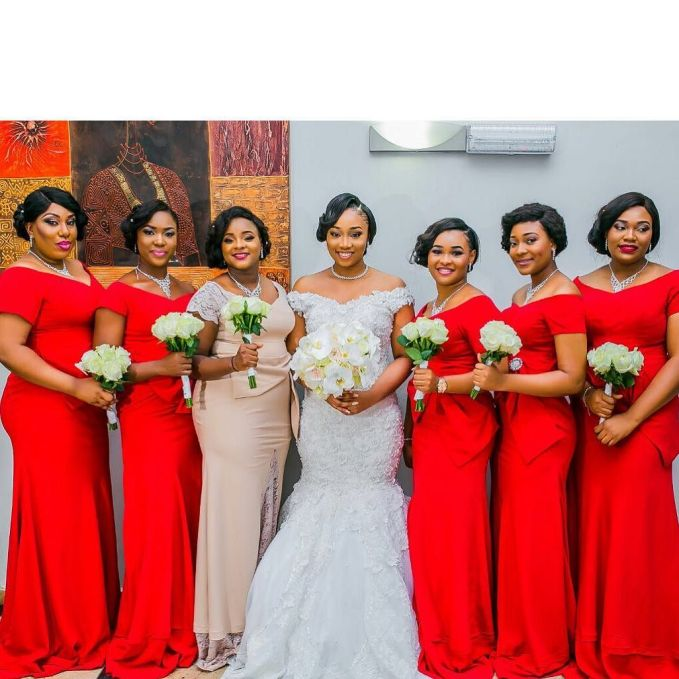 Delectable Bride And Bridesmaid Outfit 2016 amillionstyles @_j_o_y_i