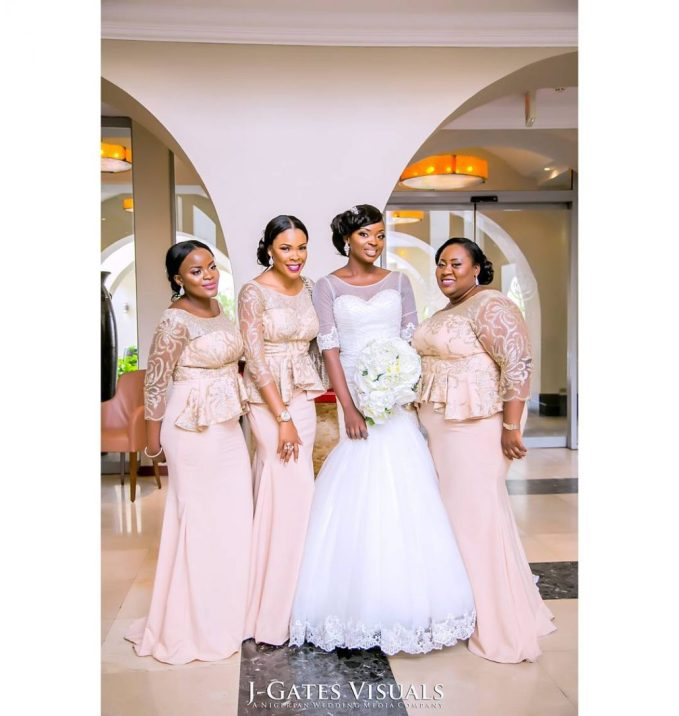 Delectable Bride And Bridesmaid Outfit 2016 amillionstyles @daammae