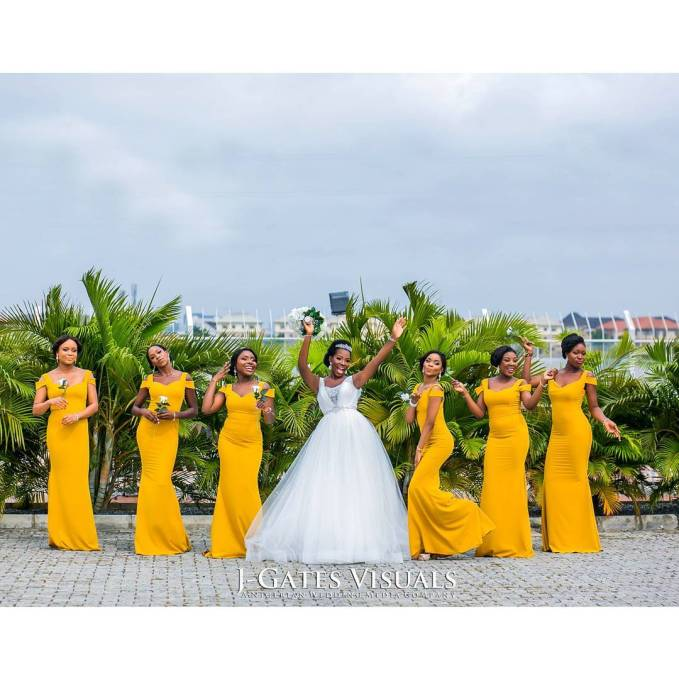 Delectable Bride And Bridesmaid Outfit 2016 amillionstyles @jgatesvisuals