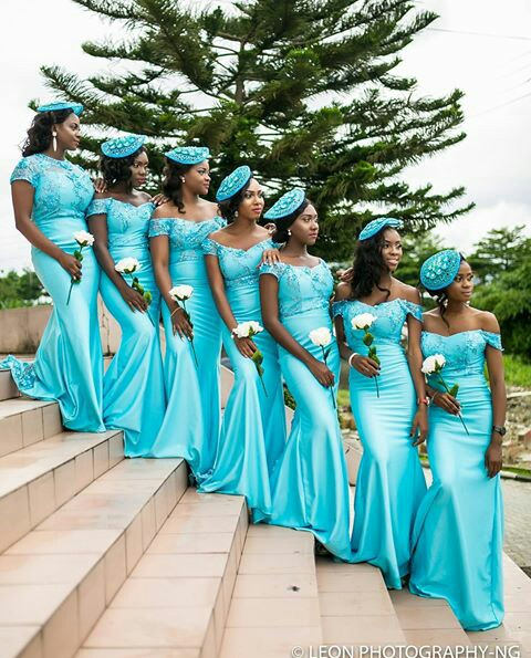Delectable Bride And Bridesmaid Outfit 2016 amillionstyles @leonphotographyng