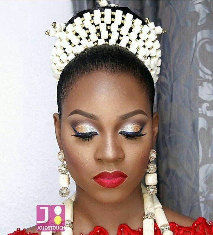 10 Lovely Traditional Bridal Makeup Looks amillionstyles @asoebiworld