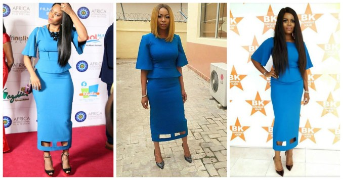 3 Celebrity Fashionistas In Blue Kendall Pair By Wana Sambo, Who Wore It Best. amillionstyles