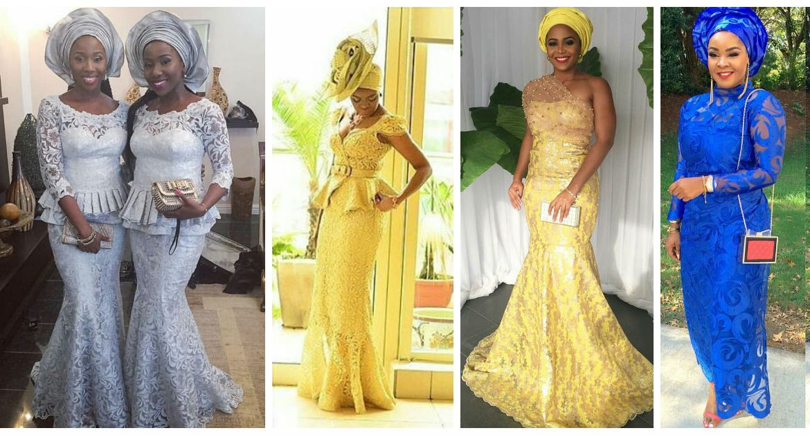 Beautiful Aso Ebi Lace Styles For the Win.