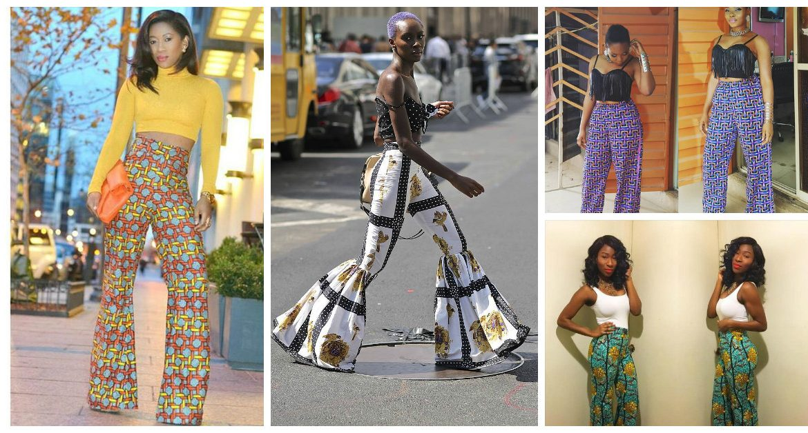 Beautiful Ankara Flare Pant Styles, Slayed For The weekend Outing
