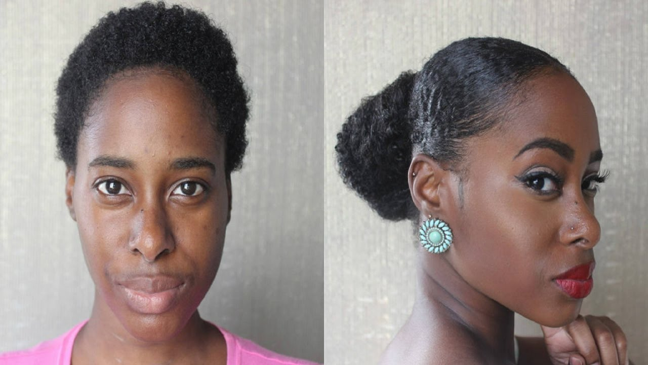 Got A Teenie Weenie 'Fro But You Want A Sleek Look? Try This Trick