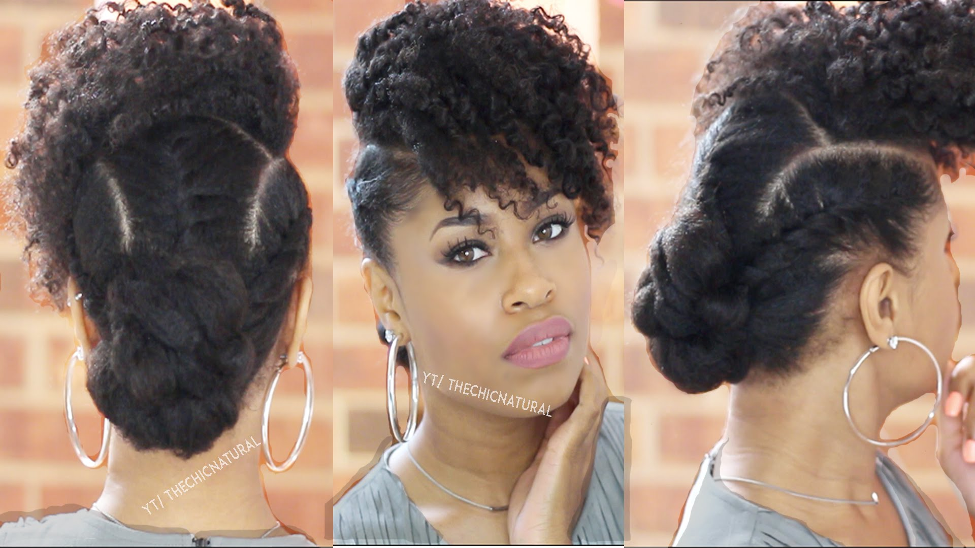 A Quick But Cute Twisted Updo In 10 Minutes