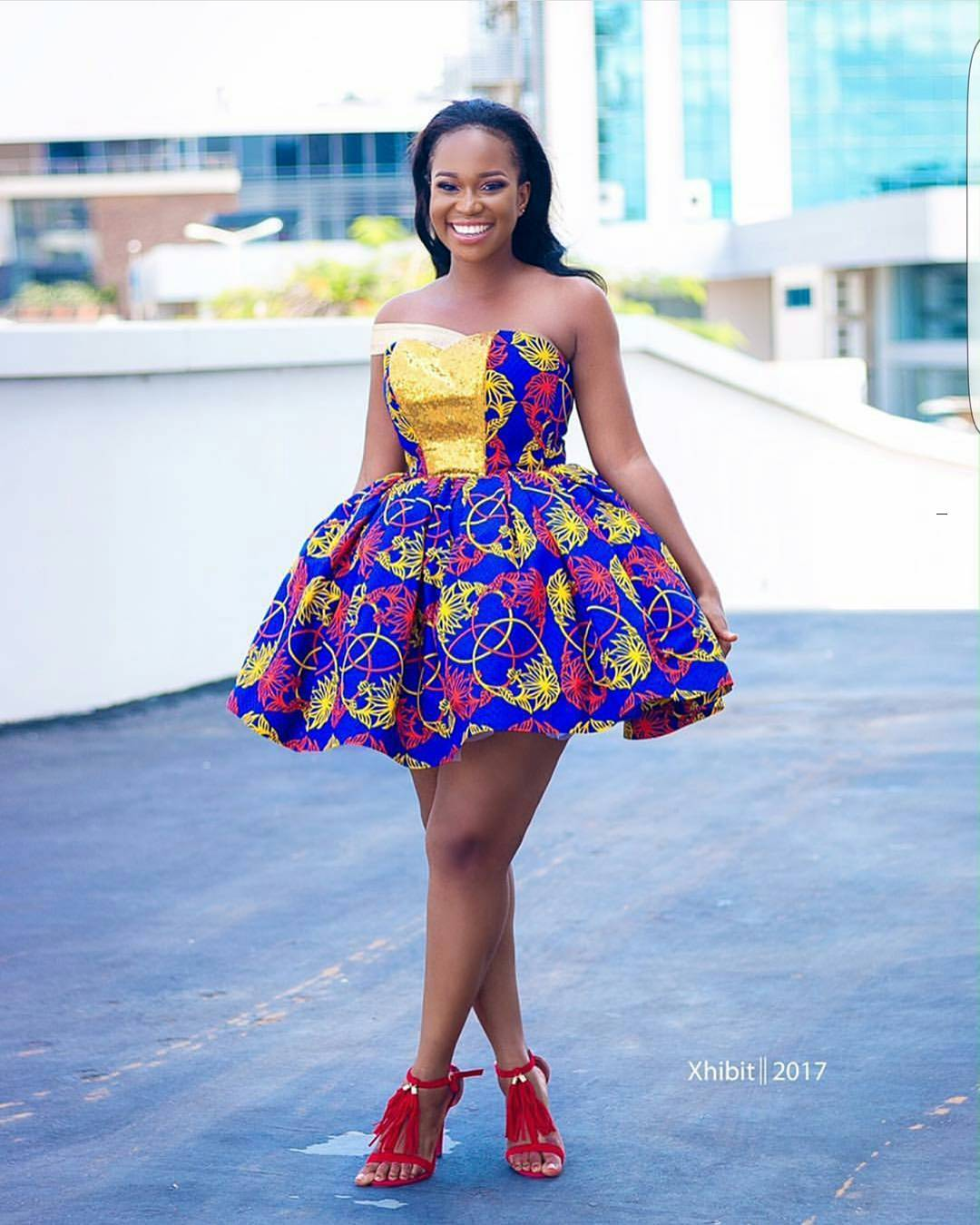 Here Are The Sweetest 2017 Short Ankara Gowns A Million
