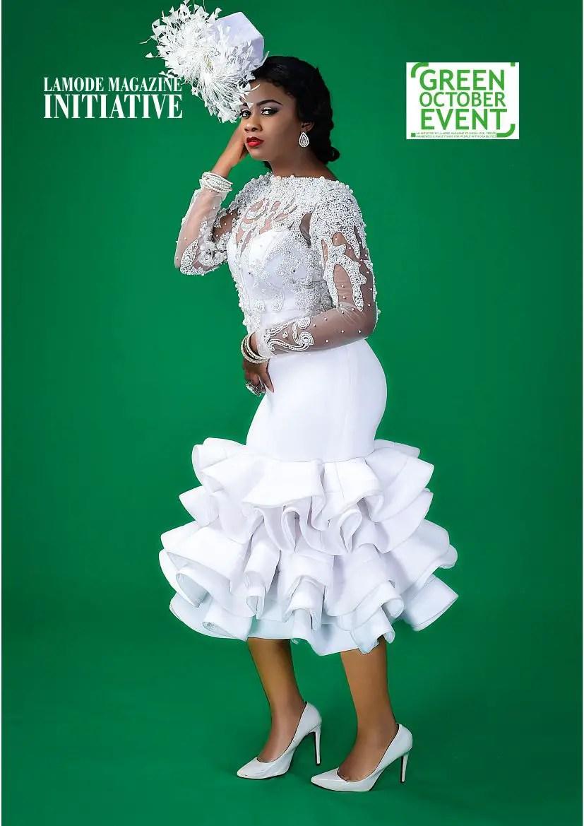 "Magazine Stand Designs : Sandra ogbebor covers the la mode magazine s ""green"