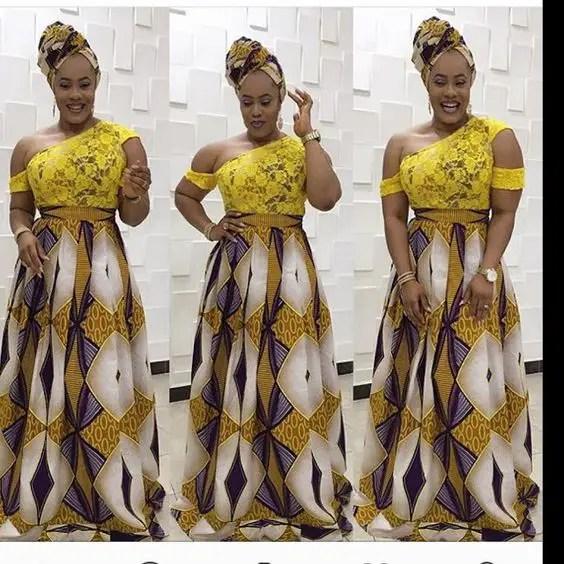 Lovely Style Mix of Lace Ankara Asoebi