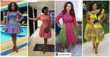 Fabulous Collections of Ankara Skater Dress the fashionable ladies are slaying.