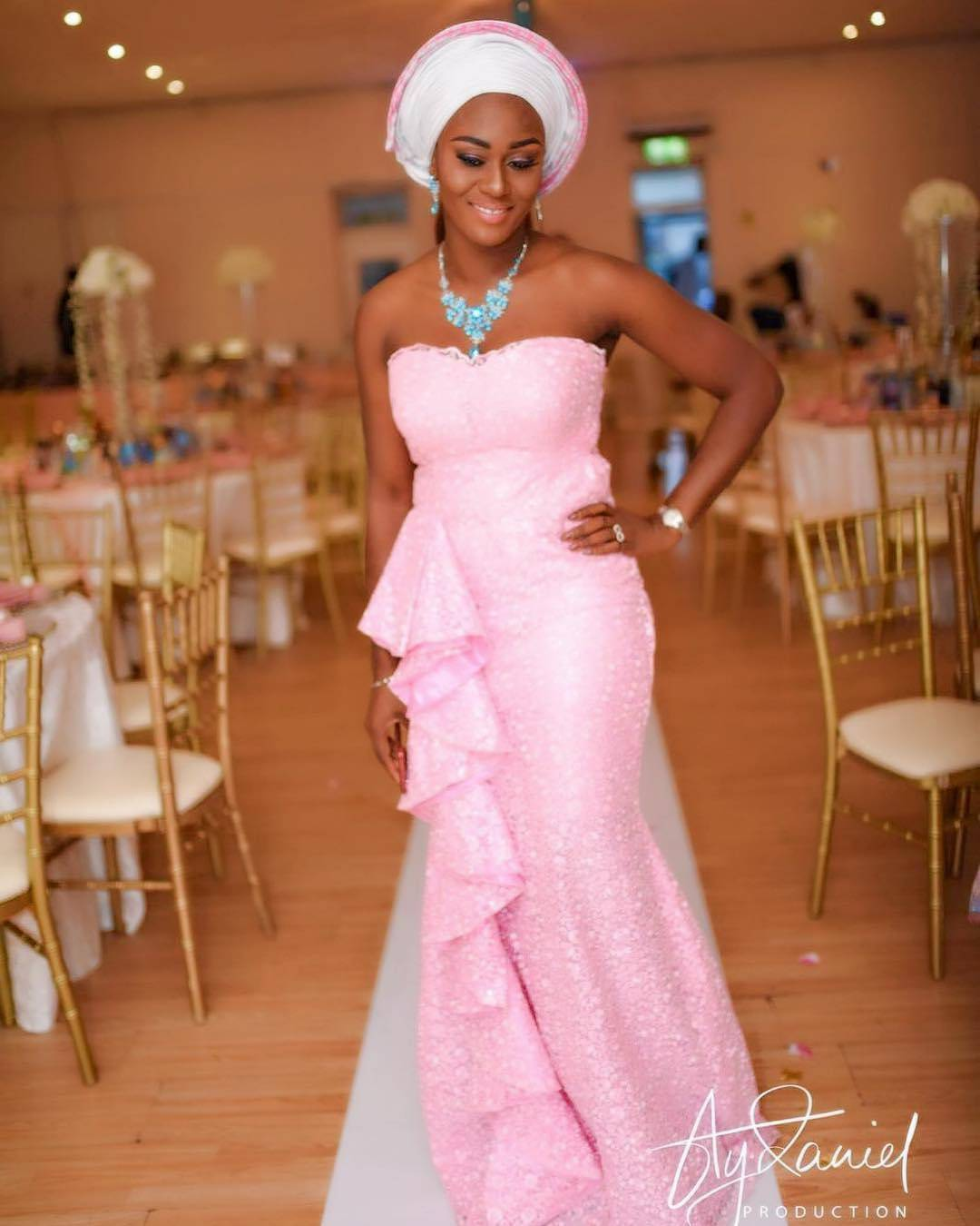 How Best To Rock Pink Lace Latest Asoebi Styles