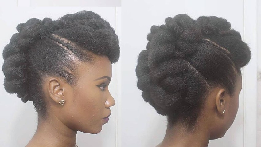 Need An Elegant Hairdo? Try This Twisted Mohawk Updo