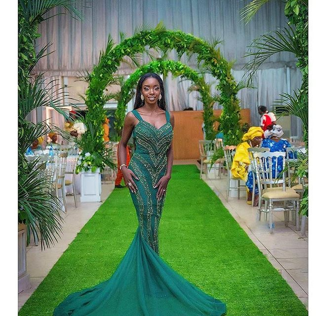 Green Aso Ebi Styles Fashionistas Slayed For Nigeria Independence Weekend.