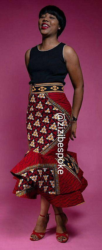 Slay In Uber Sexy Ankara Skirts For A Casual Look