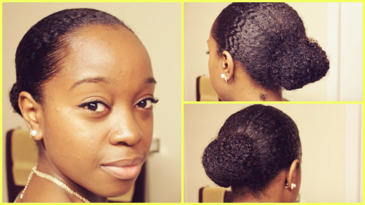 Learn How To Do Sleek Bun Hairstyle On Natural Hair