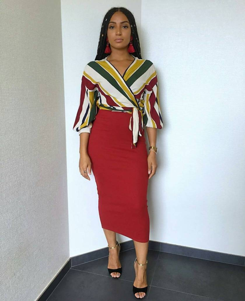 Simple Skirt Outfits To Rock To The Office