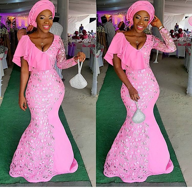 The Glam Collection From The Latest Aso Ebi Styles.
