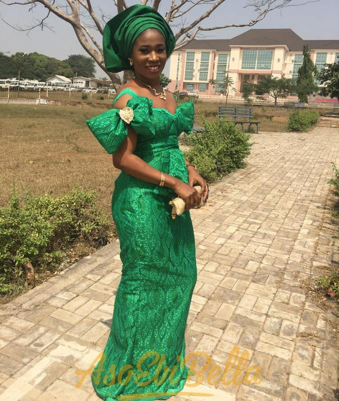 Sizzling Green Asoebi Lace Outfits!