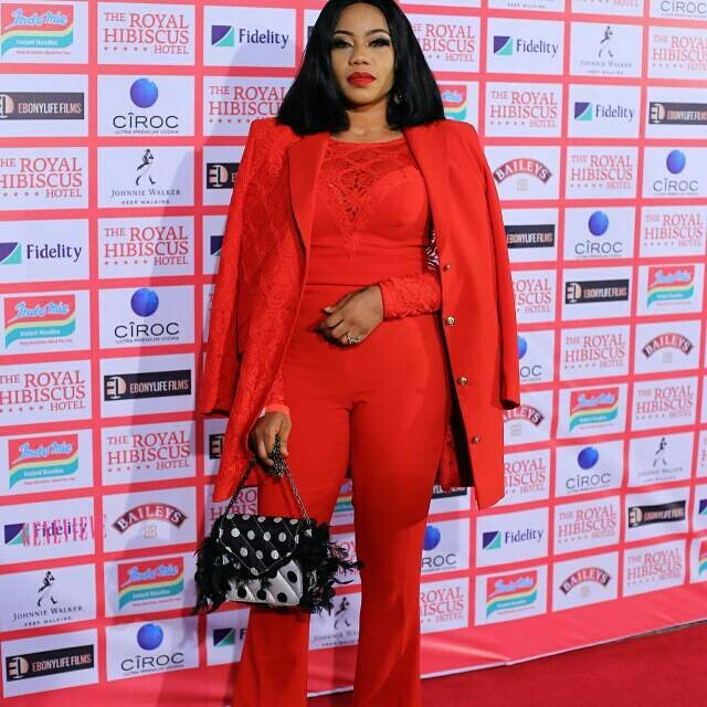 The Stars Slayed In Red For The Royal Hibiscus Hotel Movie Premiere
