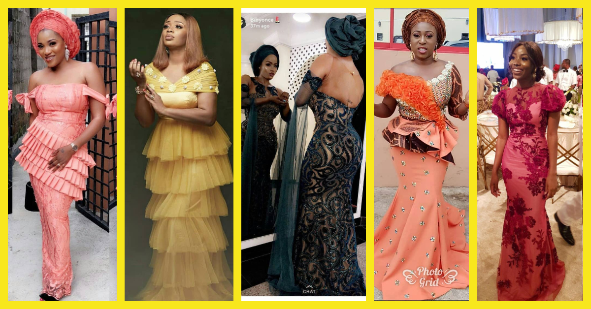 We Have An Array Of Selected Lace Asoebi Styles For You