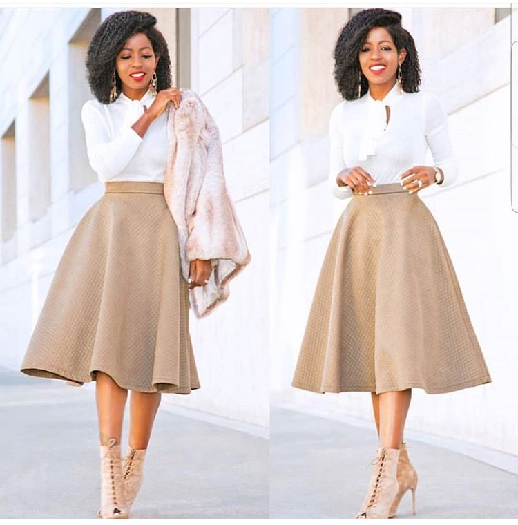 How To Stylishly Rock A Line Full Skirt To Church